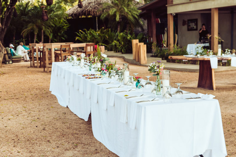 Pangas Beach Club Tablescape